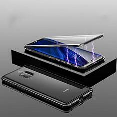 Funda Bumper Lujo Marco de Aluminio Espejo 360 Grados Carcasa T14 para Huawei Mate 20 Pro Negro