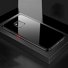 Funda Bumper Lujo Marco de Aluminio Espejo 360 Grados Carcasa T15 para Huawei Mate 20 Pro Negro