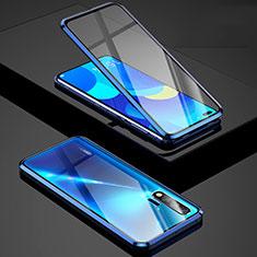 Funda Bumper Lujo Marco de Aluminio Espejo 360 Grados Carcasa Z01 para Huawei Nova 6 5G Azul