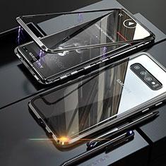 Funda Bumper Lujo Marco de Aluminio Espejo Carcasa A01 para Samsung Galaxy S10 Plus Negro