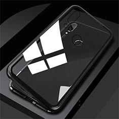 Funda Bumper Lujo Marco de Aluminio Espejo Carcasa M01 para Huawei P Smart (2019) Negro
