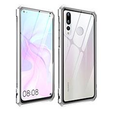 Funda Bumper Lujo Marco de Aluminio Espejo Carcasa para Huawei Nova 4 Plata