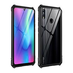 Funda Bumper Lujo Marco de Aluminio Espejo Carcasa para Huawei P Smart (2019) Negro