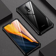Funda Bumper Lujo Marco de Aluminio Espejo Carcasa para OnePlus 7 Negro