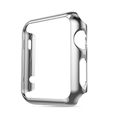 Funda Bumper Lujo Marco de Aluminio para Apple iWatch 3 42mm Plata