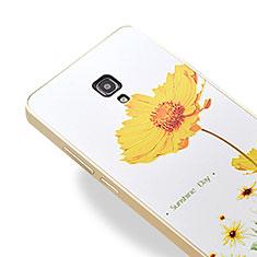 Funda Bumper Lujo Marco de Aluminio para Huawei Ascend Mate 2 Oro