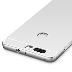Funda Bumper Lujo Marco de Aluminio para Huawei Honor V8 Plata