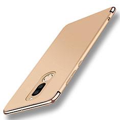 Funda Bumper Lujo Marco de Metal y Plastico Carcasa con Anillo de dedo Soporte A01 para Huawei G10 Oro