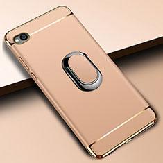 Funda Bumper Lujo Marco de Metal y Plastico Carcasa con Anillo de dedo Soporte A01 para Xiaomi Redmi Go Oro