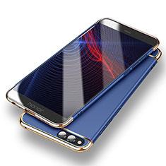 Funda Bumper Lujo Marco de Metal y Plastico para Huawei Honor Play 7X Azul