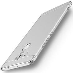 Funda Bumper Lujo Marco de Metal y Plastico para Huawei Mate 8 Plata