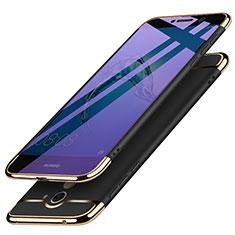 Funda Bumper Lujo Marco de Metal y Plastico para Huawei Y7 Prime Negro
