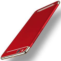 Funda Bumper Lujo Marco de Metal y Plastico para Xiaomi Redmi 5A Rojo