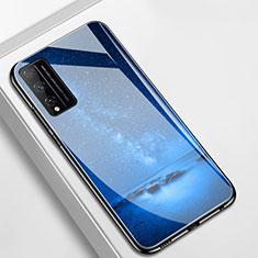 Funda Bumper Silicona Gel Espejo Estrellado Carcasa para Huawei Honor Play4T Pro Azul