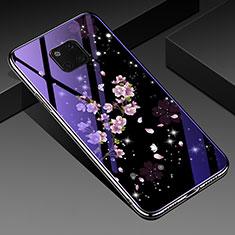 Funda Bumper Silicona Gel Espejo Flores Carcasa K01 para Huawei Mate 20 Pro Multicolor