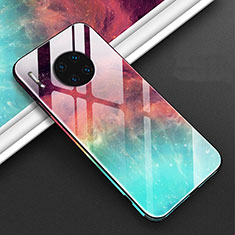 Funda Bumper Silicona Gel Espejo Patron de Moda Carcasa C01 para Huawei Mate 30E Pro 5G Rojo