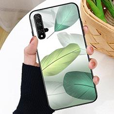 Funda Bumper Silicona Gel Espejo Patron de Moda Carcasa D01 para Huawei Nova 5T Verde