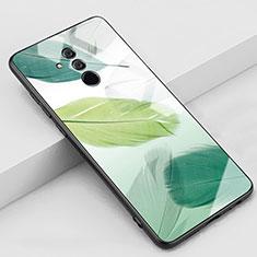 Funda Bumper Silicona Gel Espejo Patron de Moda Carcasa H07 para Huawei Mate 20 Lite Verde