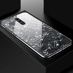 Funda Bumper Silicona Gel Espejo Patron de Moda Carcasa H09 para Huawei Mate 20 Lite Negro