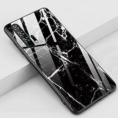 Funda Bumper Silicona Gel Espejo Patron de Moda Carcasa K01 para Huawei Honor 20 Pro Negro