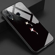 Funda Bumper Silicona Gel Espejo Patron de Moda Carcasa K03 para Huawei Honor 20 Lite Gris