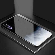 Funda Bumper Silicona Gel Espejo Patron de Moda Carcasa K04 para Huawei P20 Pro Negro