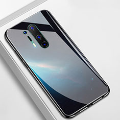 Funda Bumper Silicona Gel Espejo Patron de Moda Carcasa M01 para OnePlus 8 Pro Negro