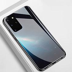 Funda Bumper Silicona Gel Espejo Patron de Moda Carcasa M01 para Samsung Galaxy S20 Plus 5G Negro