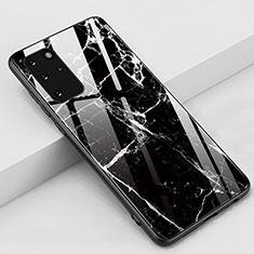 Funda Bumper Silicona Gel Espejo Patron de Moda Carcasa M02 para Samsung Galaxy S20 Plus 5G Negro