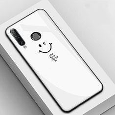 Funda Bumper Silicona Gel Espejo Patron de Moda Carcasa para Huawei Enjoy 9s Blanco
