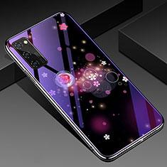 Funda Bumper Silicona Gel Espejo Patron de Moda Carcasa para Huawei Honor View 30 Pro 5G Morado