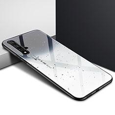 Funda Bumper Silicona Gel Espejo Patron de Moda Carcasa para Huawei Nova 5T Gris