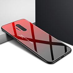 Funda Bumper Silicona Gel Espejo Patron de Moda Carcasa para OnePlus 8 Pro Rojo