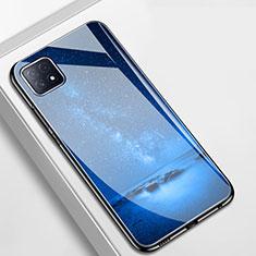 Funda Bumper Silicona Gel Espejo Patron de Moda Carcasa para Oppo A73 5G Azul