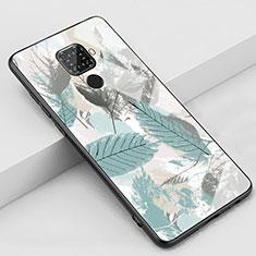 Funda Bumper Silicona Gel Espejo Patron de Moda Carcasa S02 para Huawei Mate 30 Lite Cian