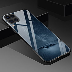Funda Bumper Silicona Gel Espejo Patron de Moda Carcasa S02 para Huawei P40 Lite Negro