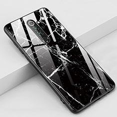 Funda Bumper Silicona Gel Espejo Patron de Moda Carcasa S03 para Xiaomi Redmi Note 8 Pro Negro