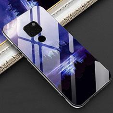 Funda Bumper Silicona Gel Espejo Patron de Moda Carcasa Z01 para Huawei Mate 20 Azul