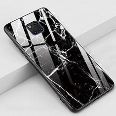 Funda Bumper Silicona Gel Espejo Patron de Moda Carcasa Z02 para Huawei Mate 20 Pro Negro