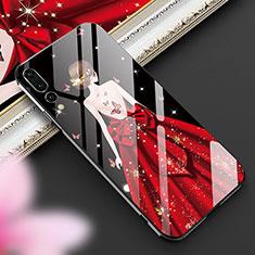 Funda Bumper Silicona Gel Espejo Vestido de Novia Carcasa K02 para Huawei P20 Pro Rojo y Negro
