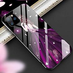 Funda Bumper Silicona Gel Espejo Vestido de Novia Carcasa M01 para Apple iPhone 11 Pro Max Morado