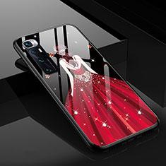 Funda Bumper Silicona Gel Espejo Vestido de Novia Carcasa para Xiaomi Mi 10 Ultra Rojo