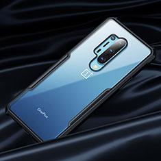Funda Bumper Silicona Transparente Espejo 360 Grados para OnePlus 8 Pro Negro