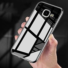 Funda Bumper Silicona Transparente Espejo 360 Grados para Samsung Galaxy A9 Pro (2016) SM-A9100 Negro