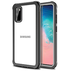 Funda Bumper Silicona Transparente Espejo 360 Grados para Samsung Galaxy S20 5G Negro