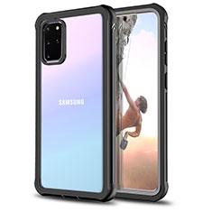 Funda Bumper Silicona Transparente Espejo 360 Grados para Samsung Galaxy S20 Plus Negro