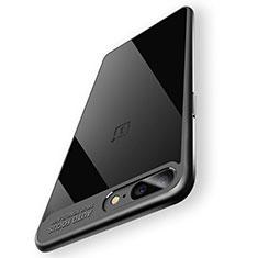 Funda Bumper Silicona Transparente Espejo 360 Grados T02 para OnePlus 5 Negro