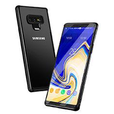 Funda Bumper Silicona Transparente Espejo para Samsung Galaxy Note 9 Negro