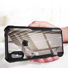 Funda Bumper Silicona Transparente Espejo para Xiaomi Redmi Note 6 Pro Negro