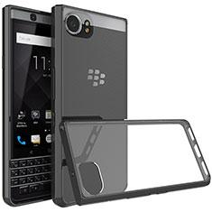 Funda Bumper Silicona Transparente Gel para Blackberry KEYone Negro